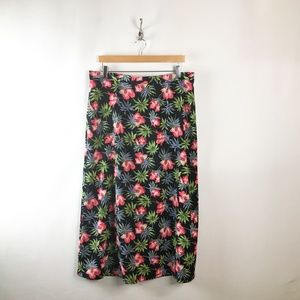 Sag Harbor Floral A Line Skirt Womens Sz Large